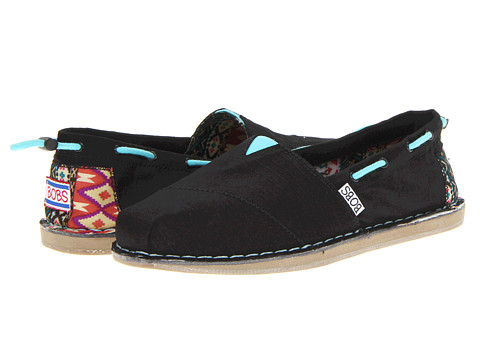 Adidasi SKECHERS - Bobs Chill - Global Welfare - Black/Turquoise