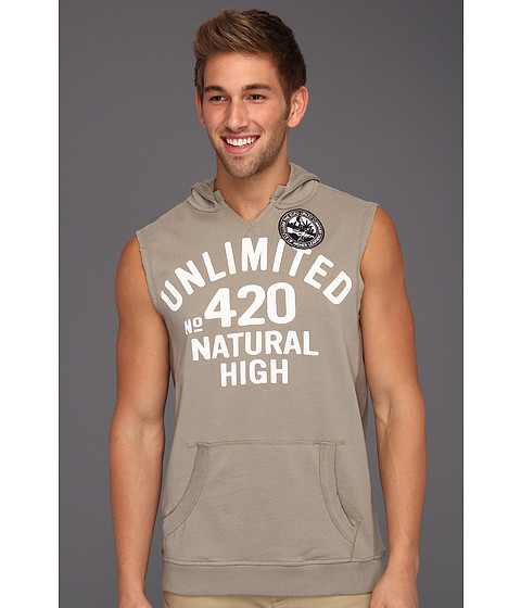 Bluze ECKO - Natural High Sleeveless Hoodie - Light Grey Dust