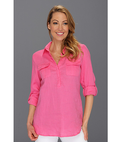 Tricouri Jones New York - L/S Roll Sleeve Tunic w/Pockets - Petal Pink