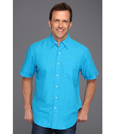 Tricouri IZOD - Short Sleeve Linen Button Down - Hawaiian Ocean