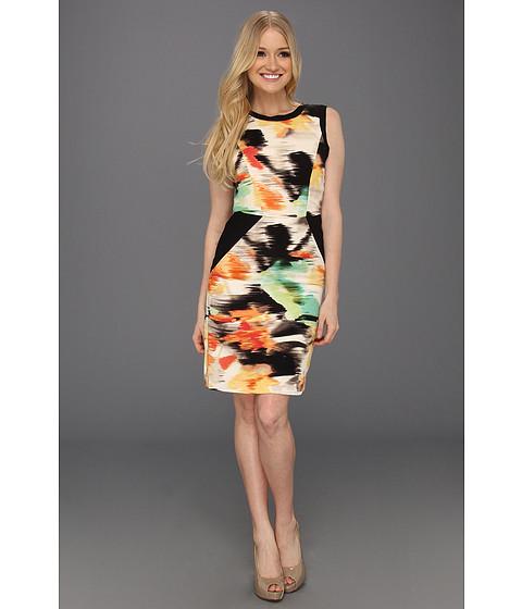 Rochii Calvin Klein - Color Block Shift Dress - Key Lime/Bellini Multi