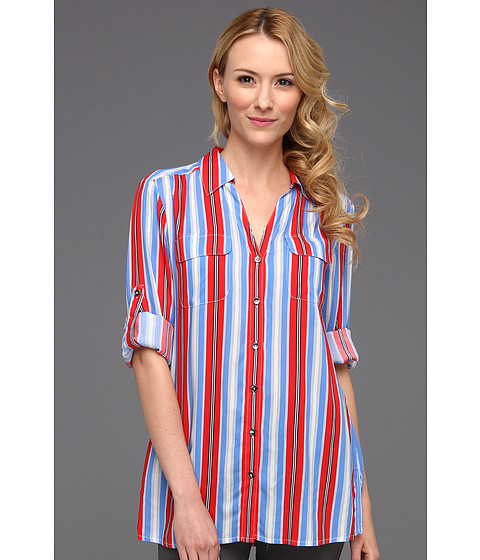 Tricouri Jones New York - Roll Long Sleeve Shirt w/Patch Pockets - Coral Sea