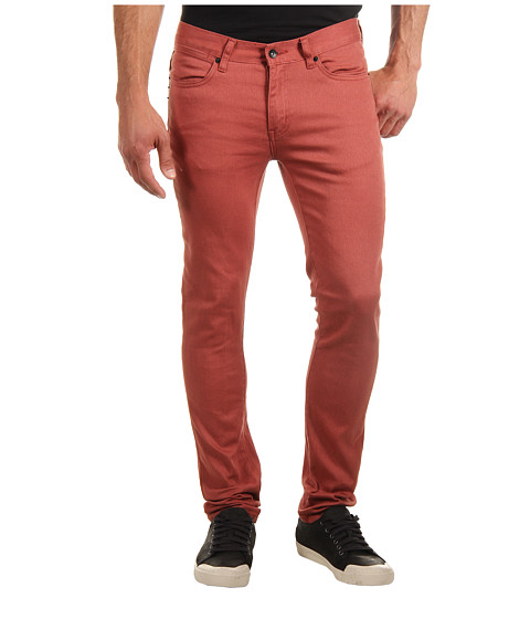 Blugi KR3W - Skinny Denim in Terracotta - Terracotta