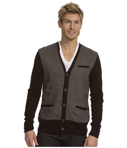Bluze John Varvatos - Linen Cardigan w/ Paneled Front - Black