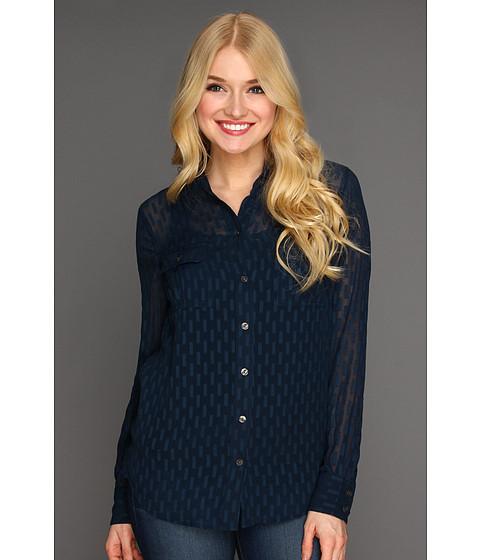 Bluze Lucky Brand - Joan Textured Jacquard Shirt - American Navy