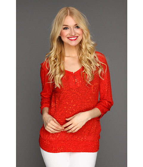 Bluze Lucky Brand - Sundial Connie Top - Red Multi