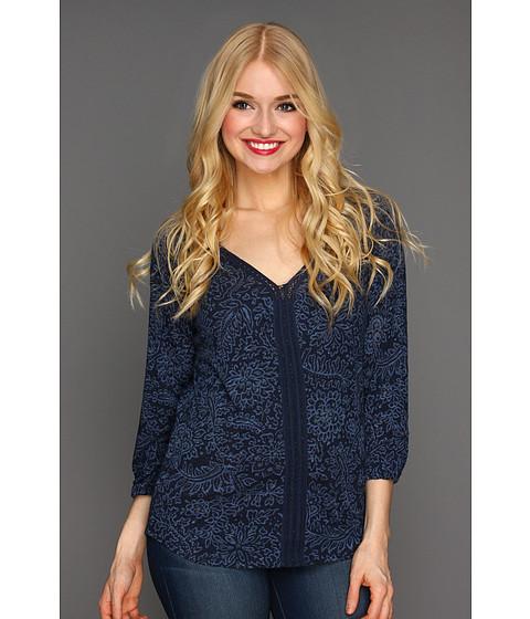 Bluze Lucky Brand - Sundial Jodie Top - Blue Multi