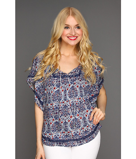 Bluze Lucky Brand - Temezcal Beatrix Top - Blue Multi