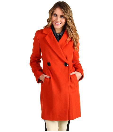 Jachete Vince Camuto - Double Breasted Peacoat - Burnt Orange