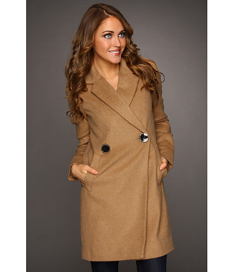 Jachete Vince Camuto - Double Breasted Peacoat - Camel