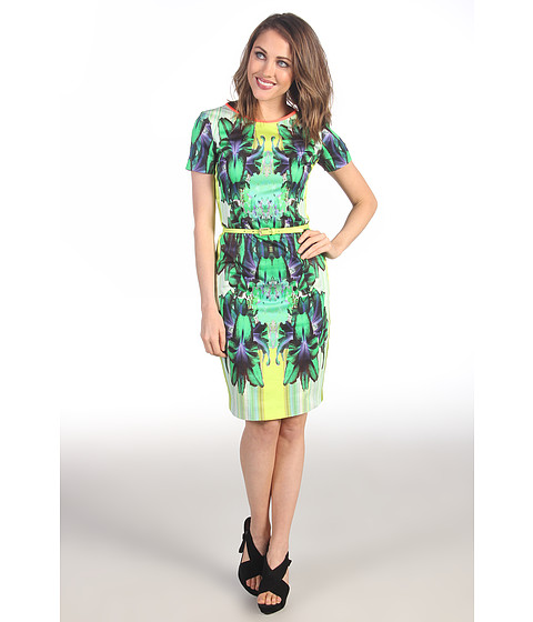 Rochii elegante: Rochie Elie Tahari - Angie Dress - Electric Lime