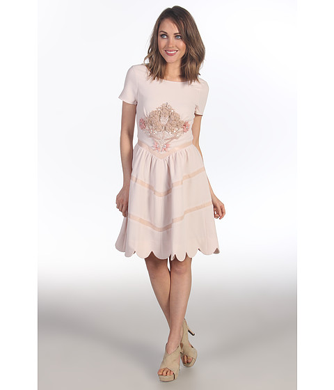 Rochii elegante: Rochie Badgley Mischka - Mark &amp;amp; James Dress w/ Applique - Blush