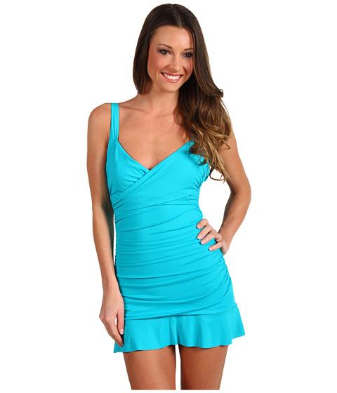 Costume de baie Calvin Klein - Solid Swimdress - Bluebird