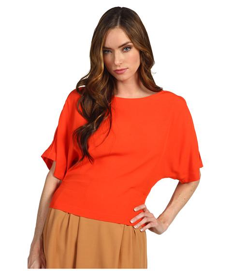 Bluze Chloe - Back Button Up S/S Blouse - Orange