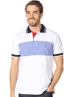 Tricouri Nautica S/S Stripe Pieced Polo French Blue | mycloset.ro