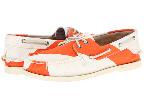 Pantofi Sperry Top-Sider - A/O 2-Eye Painted Canvas - Diver Orange/White