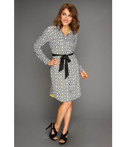 Rochii Vince Camuto - Two Pocket Shirt Dress - Black/White