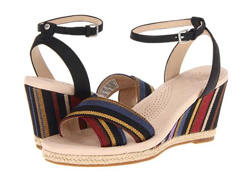 Sandale UGG - Nyssa Stripe - Black Nubuck