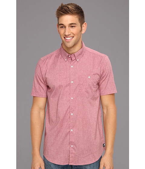 Camasi DC - Anvil 2 Short Sleeve Shirt - Heather Deep Red