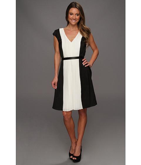 Rochii DKNY - Cap Sleeve Colorblock Pleat Dress - Black