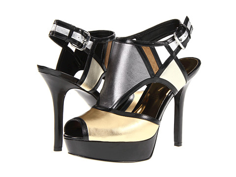 Pantofi Nine West - Founder - Gold Multi Leather