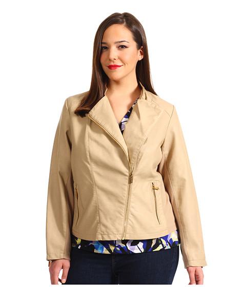 Sacouri Calvin Klein - Plus Size Seamed Moto Jacket - Bisque