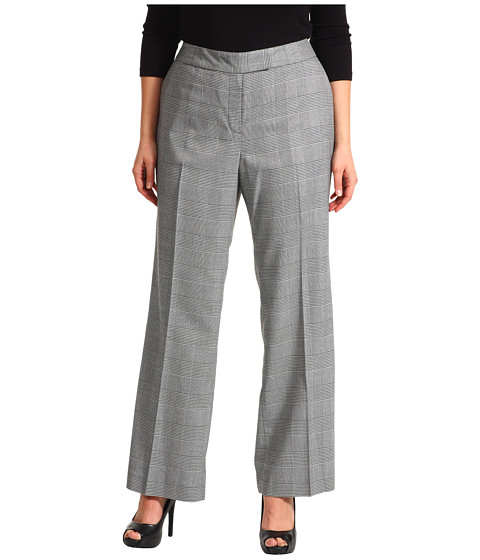 Pantaloni Anne Klein New York - Plus Size Glen Plaid Trouser Leg Pant - Black/Cemellia