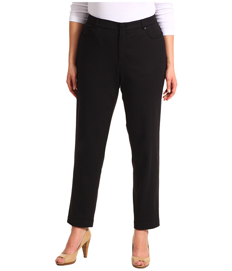 Pantaloni Anne Klein New York - Plus Size Ponte 5 Pocket Pant - Black