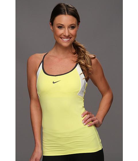 Tricouri Nike - Strappy Knit Tank - Electric Yellow/White/Anthracite/Anthracite