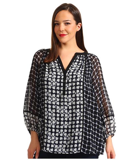 Tricouri Calvin Klein - Plus Size Peasant Blouse - Ultramarine/Eclipse Multi