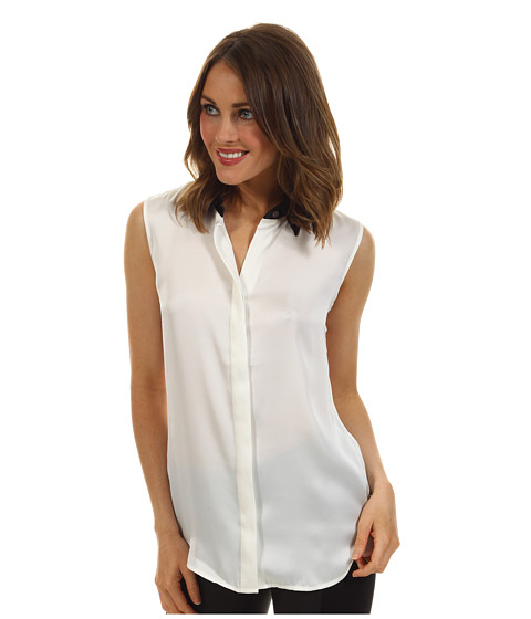 Bluze Vince Camuto - S/L Contrast Collar Blouse - New Ivory
