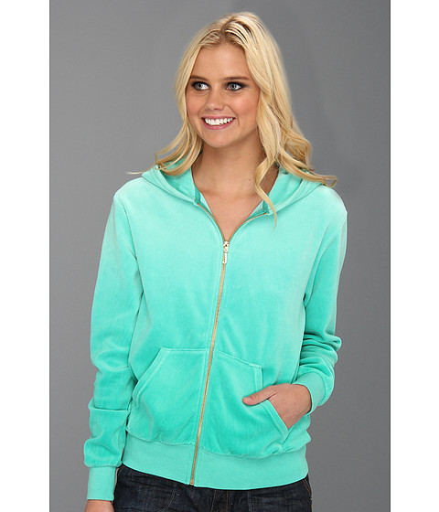 Bluze Juicy Couture - Ombre Velour Relaxed Jacket - Bright Jade Ombre