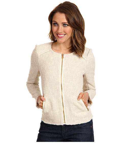 Sacouri Juicy Couture - Texture Collarless Jacket - Pale Bamboo