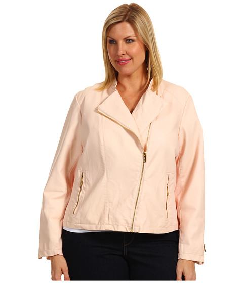 Sacouri Calvin Klein - Plus Size Faux Leather Moto Jacket - Parfait
