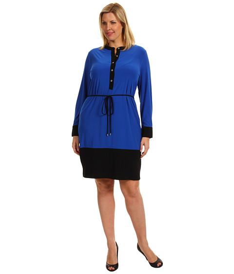 Rochii Calvin Klein - Plus Size Colorblock Shirtdress - Ultramarine