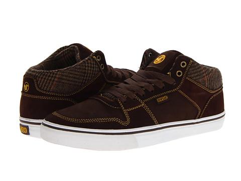 Adidasi DVS Shoe Company - Clip - Brown Plaid Suede HOL 13