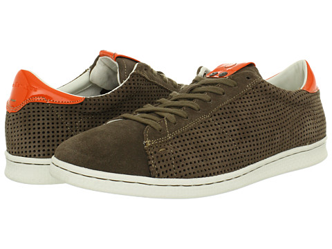 Adidasi Calvin Klein - Hart Suede/Leather - Taupe/Orange