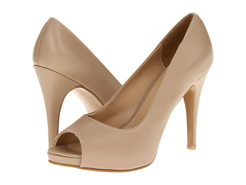 Pantofi rsvp - Macall Peep Toe - Nude Leather
