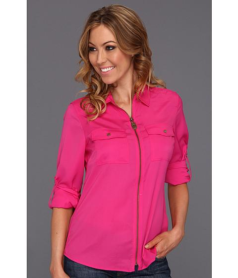 Bluze MICHAEL Michael Kors - Dog Tag Zip Camp Shirt - Radiant Pink