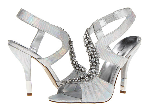 Pantofi Nine West - Kirian - White/Silver Leather