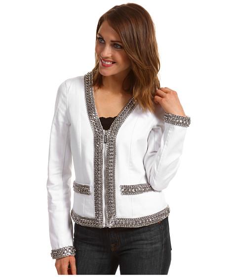 Jachete Michael Kors - Baja Denim CHN Trim Jacket - White