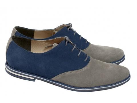 Pantofi Opincutze - Abrre zapatos - gri cu albastru