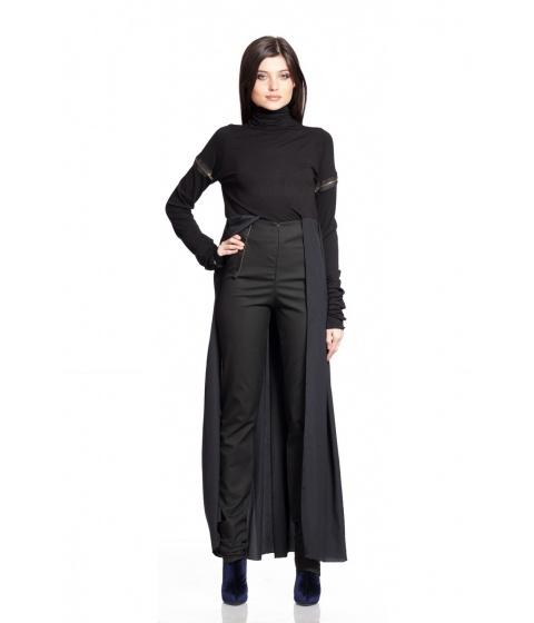 Bluze Simona Semen - Viscose & Jersey Top - Negru