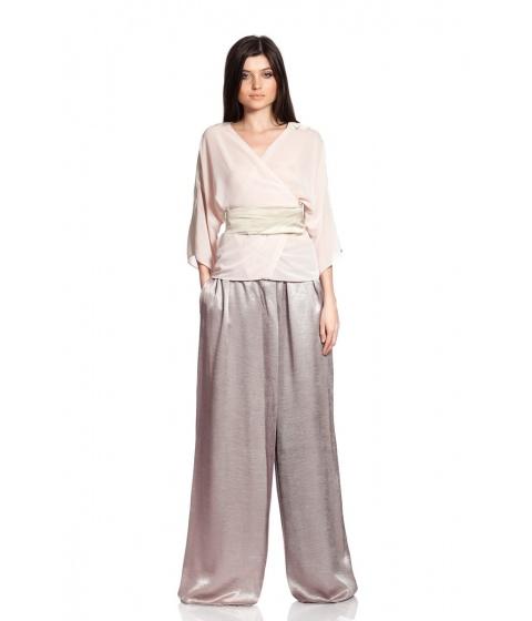 Bluze Simona Semen - Voile kimono - Roz pastel