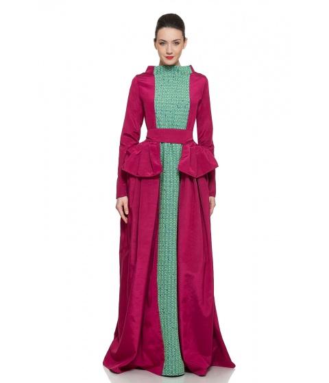 Rochii Simona Semen - Princess Dress - Bordeaux & verde menta