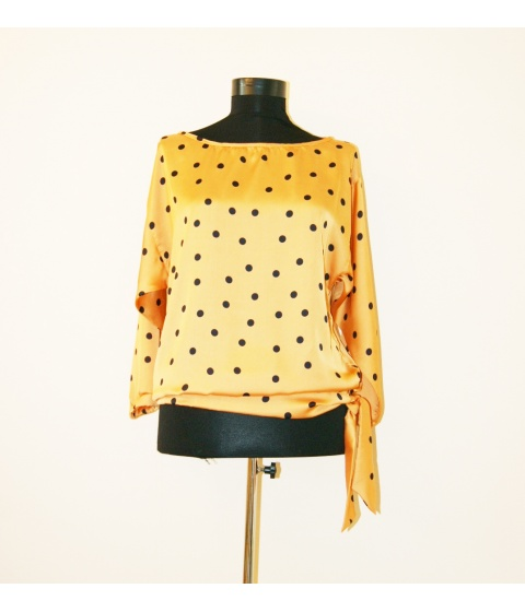 Bluze Monica Oranici - Bluza BZ351 - Galben Buline