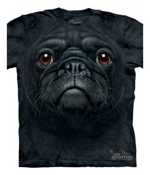 Tricouri The Mountain - Black Pug Face - Negru