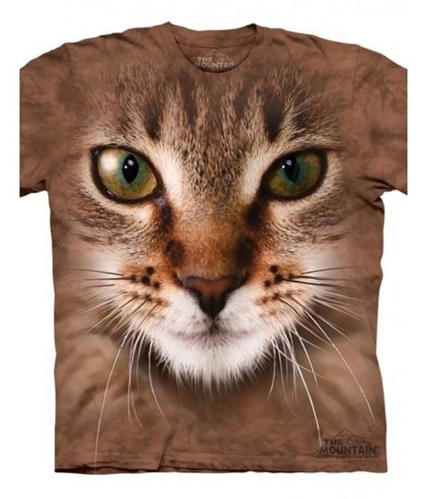 Tricouri The Mountain - Striped Cat Face - Maro