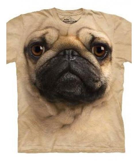 Tricouri The Mountain - Pug Face - Crem