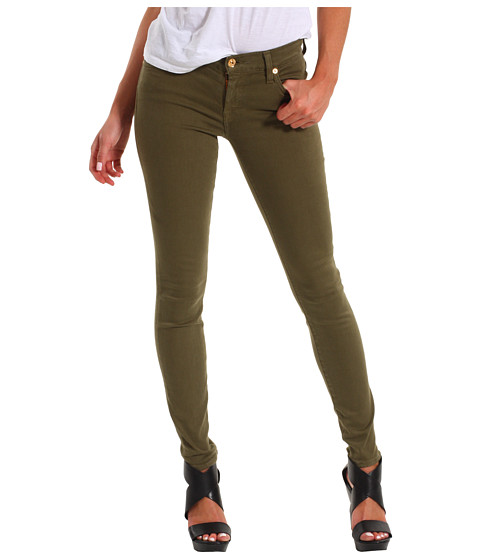 Blugi 7 For All Mankind - The Skinny Slim Illusion Twill - Army Green